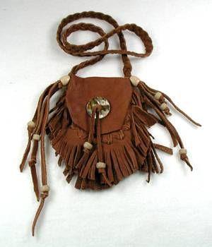 Native American Medicine Bags   Native American Indian Buckskin Medicine Bag