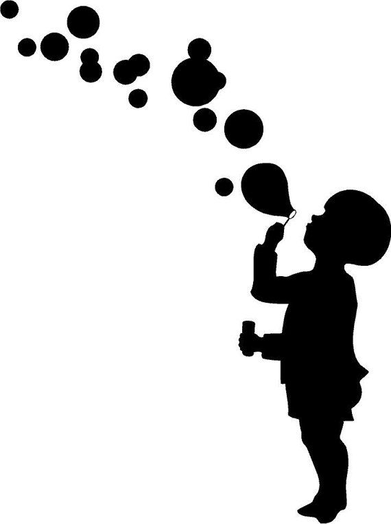 Blowing Bubbles, Toddler Decor, Summer Decals, Nursery Wall Art, Kids Room Decor, Home Decor, Daycare Decal, Boy Decal, Playroom Decor