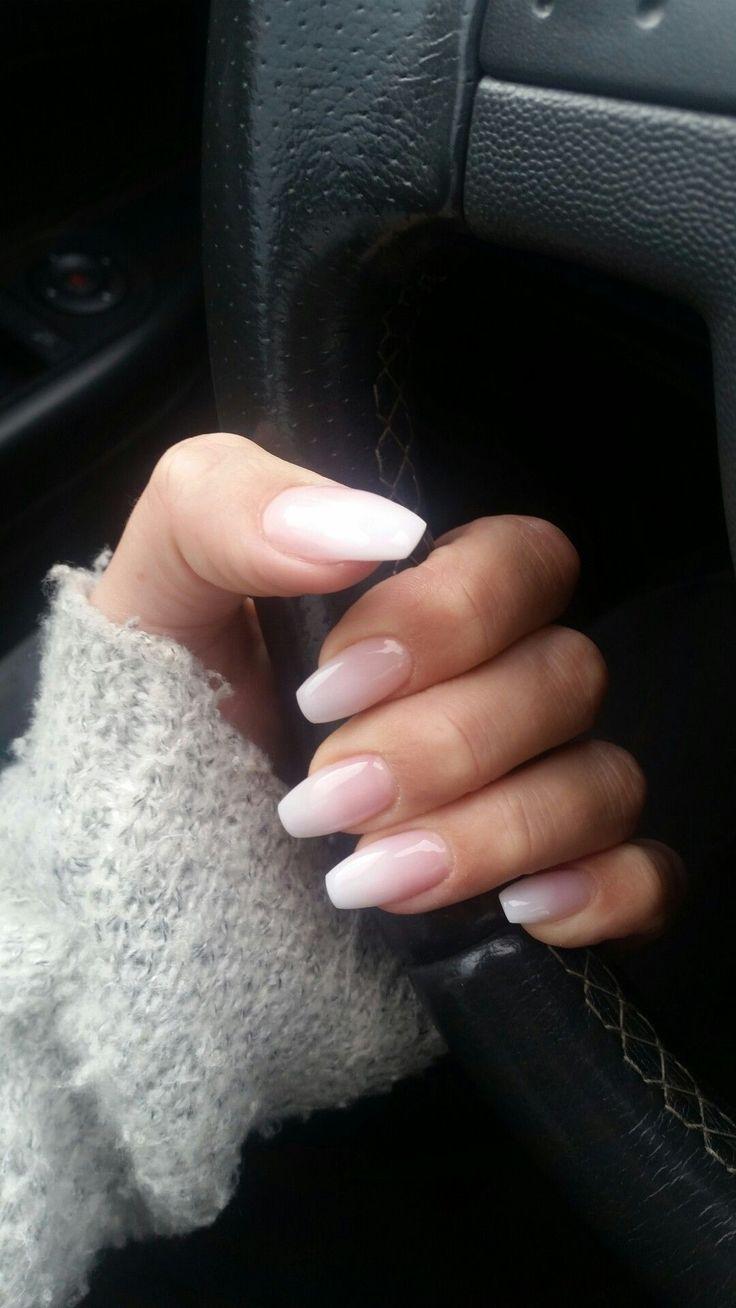 #babyboomer #nails #milky #love #AcrylicNailsAlmond