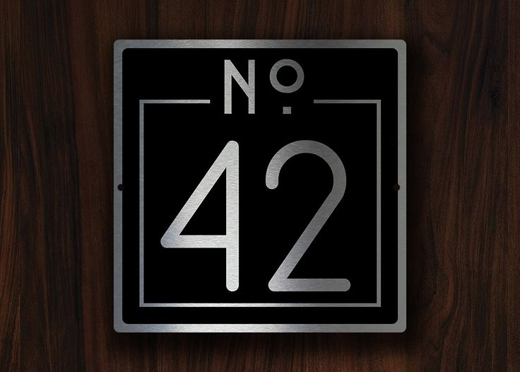 1000 Ideas About House Numbers Modern On Pinterest