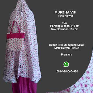 Mukena Vip Pink Flower - Grosir Pesan Mukena katun jepang santung bordir batik bali murah anak