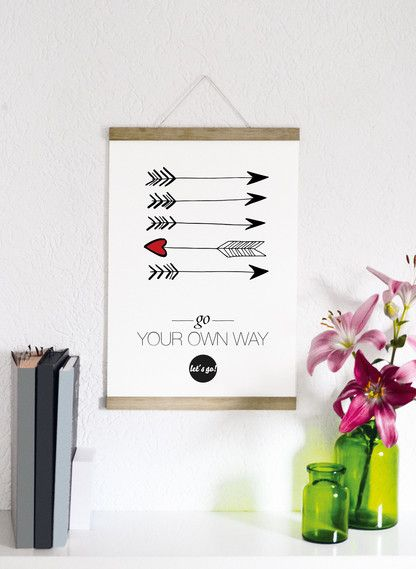 Kunstdruck Go your own way