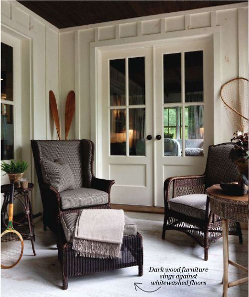 Love the paneling and the beautiful french doors.