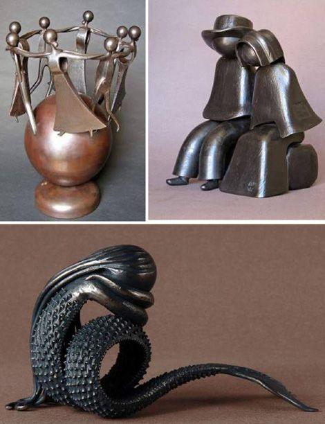 Jean Pierre Augier e suas leves esculturas de ferro