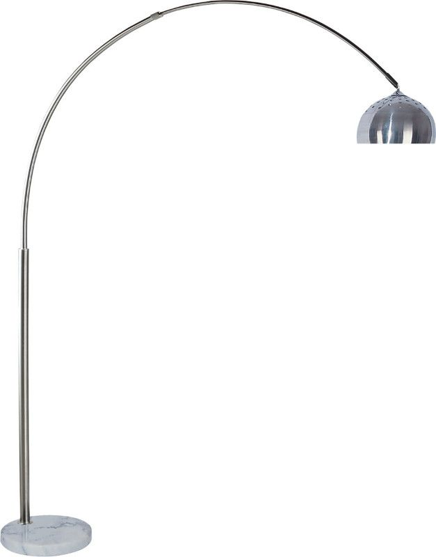 L76935 Brushed Steel Finish Overhead Arch Floor Lamp Arched