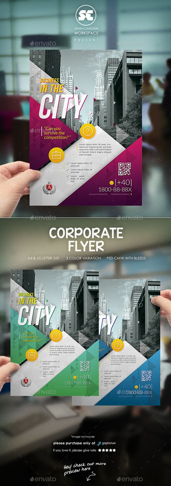 Creative Corporate Flyer get unlimited graphic design at http://hyadesign.com/
