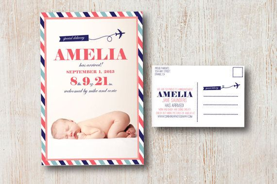 Cute graphics  Special Delivery New Baby Announcement by SimpleSimonDesign