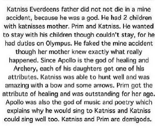 Hunger Games/ Percy Jackson cross over Woah!!!