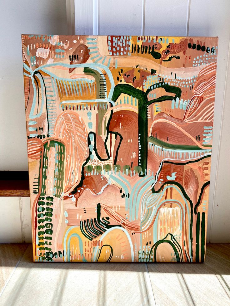 Lone Palm Desert Sands by Carley Bourne Art painting