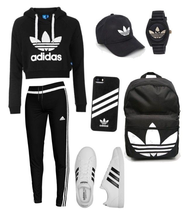 """Adidas This, Adidas That"" by sanjanam ❤ liked on Polyvore featuring Topshop and adidas"