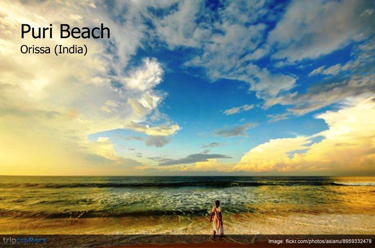 #PuriBeach: Undoubtedly one of the most popular beaches of eastern India, Puri beach is defined by golden sands and charming beach resorts combined with lip-smacking sea food. Check out other tourist places to visit in Puri, #Orissa (#India)