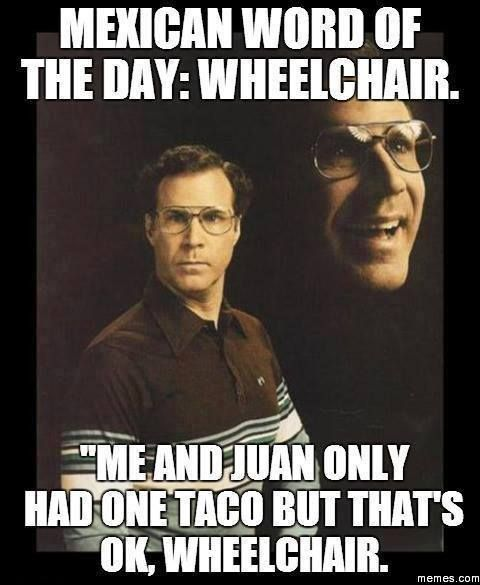 Mexican word of the day - Wheelchair - http://www.jokideo.com/