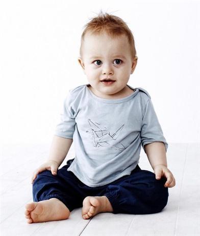 Baobab Boat Neck Crane Tee, Baby Clothes Online