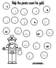 Pirate Number tracer printable+