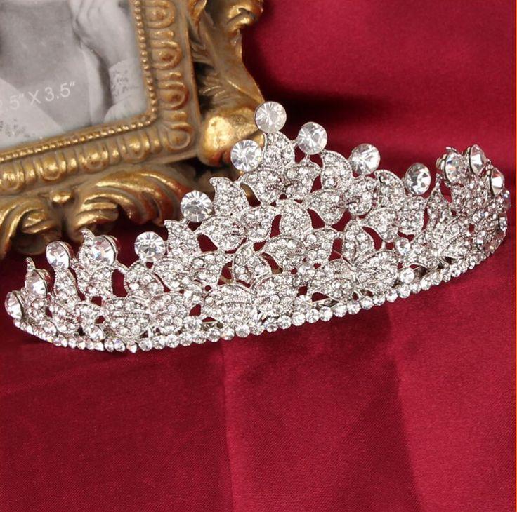 신부 이마 장식 크리스탈 왕관 라인 스톤 신부 머리 장식 헤어 액세서리 보석 신부 파티 장식