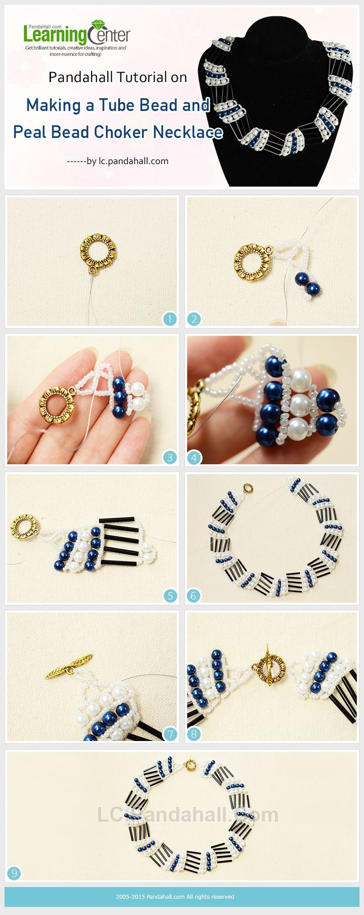 Making-a-Tube-Bead-and-Peal-Bead-Choker-Necklace