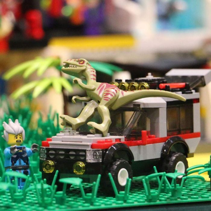 Lego enthusiasts gather on Queensland's Sunshine Coast to share their passion for the world-famous toy.