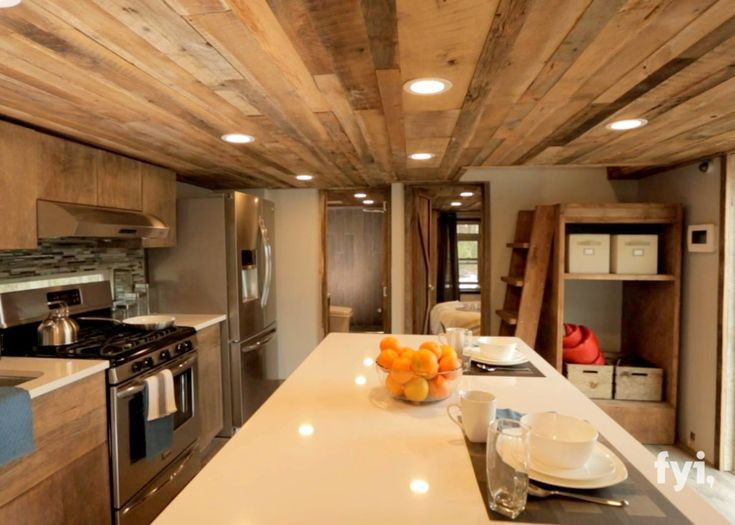FAs seen on Tiny House Nation May 25th episode. This is a 400sf tiny house that accommodates 2 adults and two children; dining for up to 12; a full kitchen with Island; luxury bath; indoor/outdoor living; totally wired and wireless. Built for the family by Lil Lodges in Alabama then trucked to NY state. If you are a family of two, no second floor is needed so you could have vaulted ceilings throughout. Cost to build/furnish: $100K