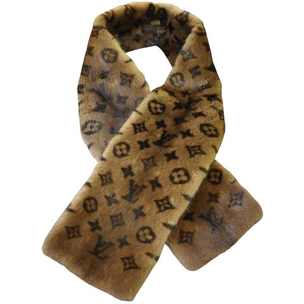 Pre-owned Louis Vuitton Mink Scarf Monogram Stole (7,490 SAR) ❤ liked on Polyvore featuring accessories, scarves, brown, mink fur stole, mink stole, louis vuitton shawl, brown shawl and mink shawl