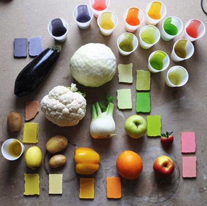 food design - DIY color palettes with cooking ingredients
