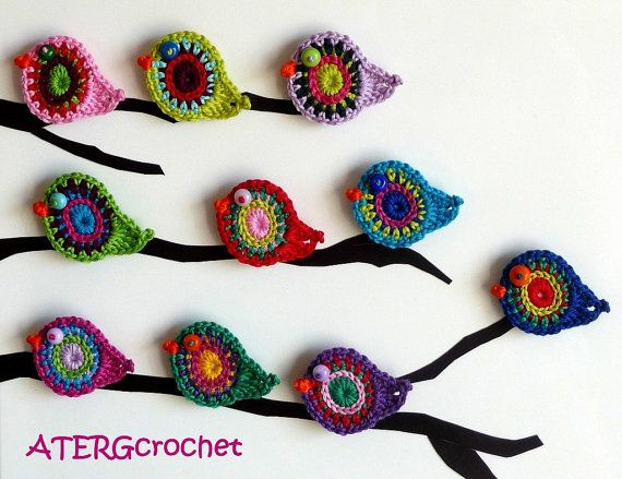 crochet pajaritos