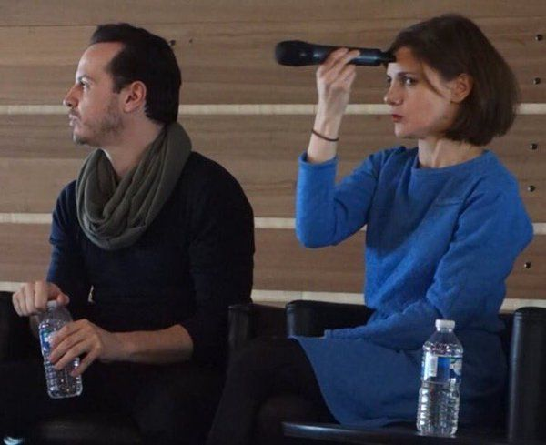 Andrew Scott and Louise Brealey