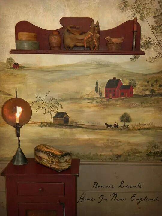 Primitive Room Painting Ideas