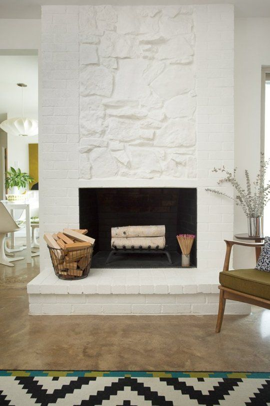 25 Best Ideas About Painted Stone Fireplace On Pinterest