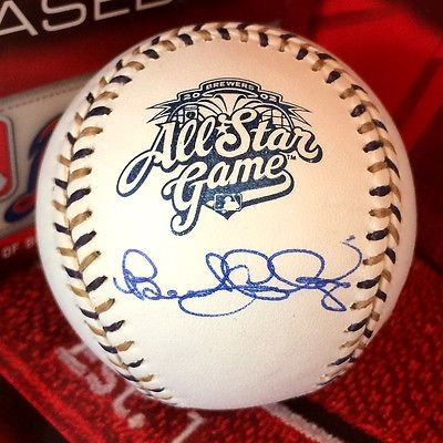 SIGNED Autographed Benito Santiago 2002 All Star Baseball Padres Giants