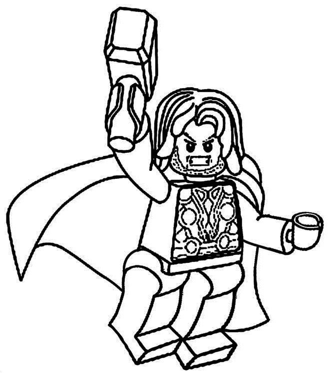 lego thor coloring pages to print  marvel coloring