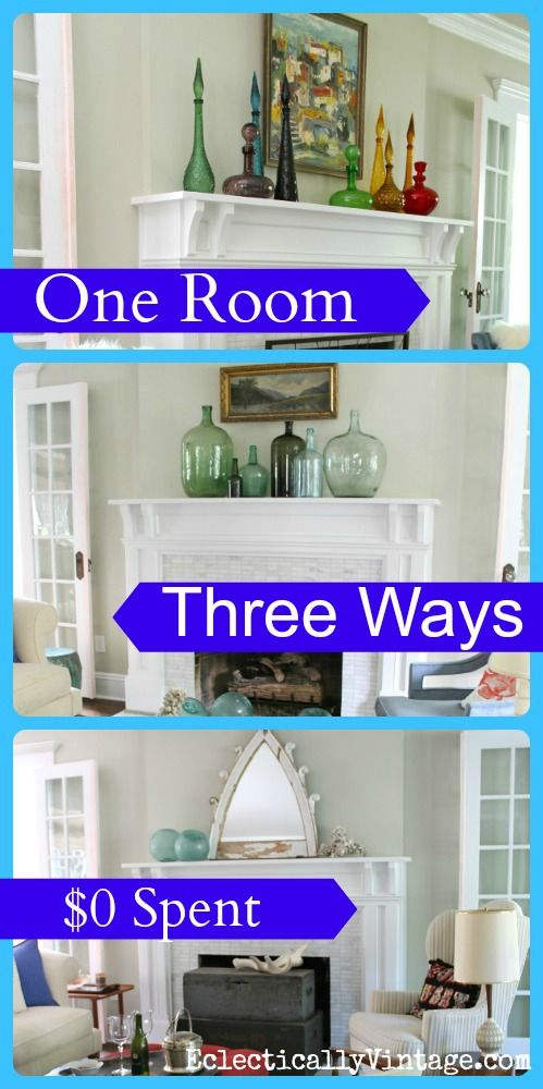 One Room Three Ways Restyled Es Link Party Your Best Diy Projects Living Decor Home