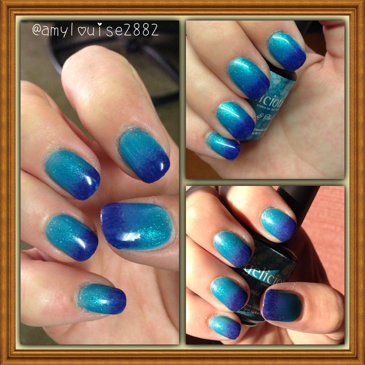 Products Used: Gelicious 'Princess & the Pea' & tips have been sponged with Gelicious 'Yacht Race'