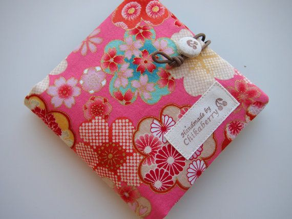 Sanitary Pouch  Kimono Pattern PINK  by Chikaberry on Etsy, $12.00