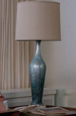 Don Draper's Blue Vase Lamp from Mad Men: Lady Lazarus #ShopTheShows #curvio
