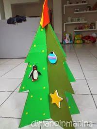 Albero di Natale attacca-stacca fai da te per bambini - children felt and cardboard tree with felt decorations
