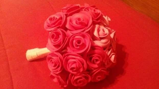 Ramo de rosas em eva