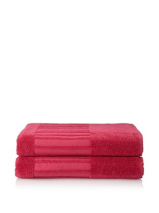 60% OFF Garnier-Thiebaut Set of 2 Bath Sheets, Framboise
