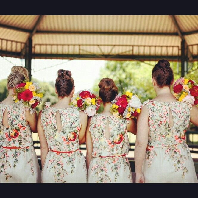 Bridesmaids hair #blonde #bridal #curls #hair #braids #brunette #wedding season #styledbymia