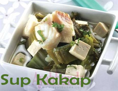 Sup Kakap :: Snapper Fish Soup :: Klik link di atas untuk mengetahui resep sup kakap