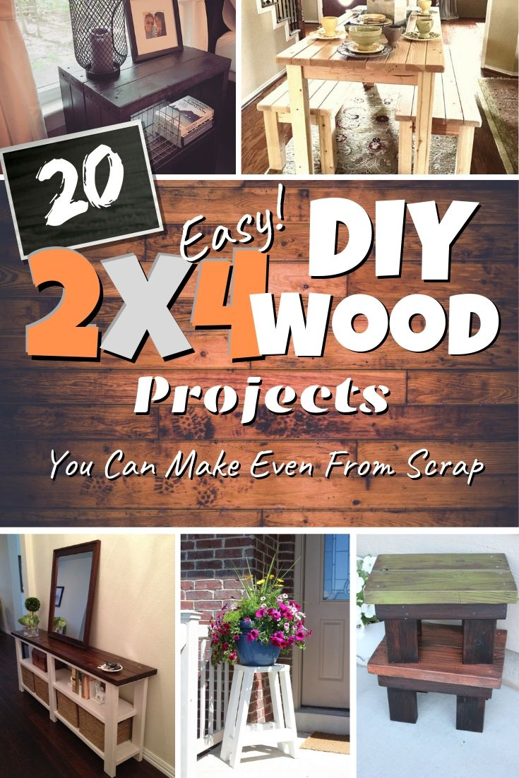 20 Easy Diy 2x4 Wood Projects You Can Make Even From Scrap 2x4 Wood Projects Diy Wood Projects For Men Repurposed Wood Projects