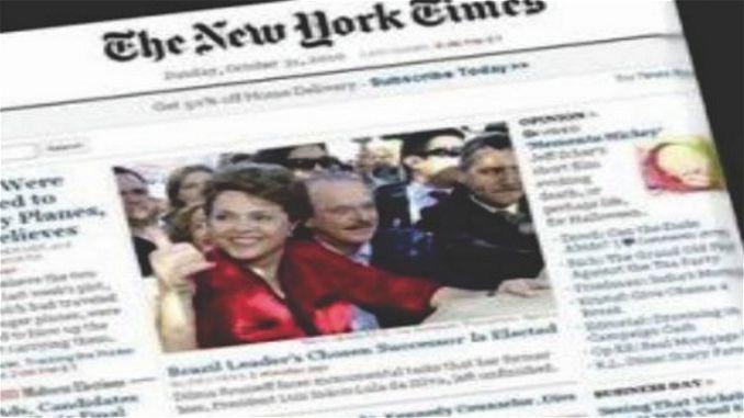 """A vergonha se espalha pelo Mundo, Dilma já não pode mais governar nosso país. Em duro editorial publicado nesta sexta (18), o jornal americano """"The [...]"""