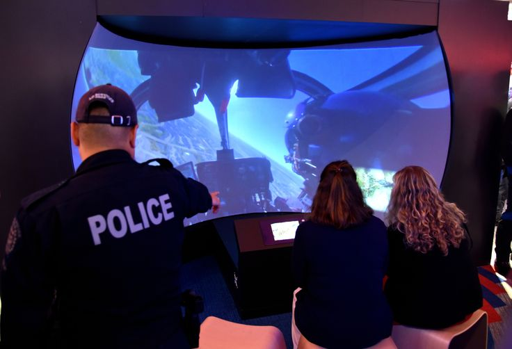The HAWC helicopter simulator ... an amazing experience!