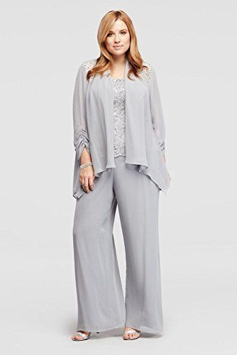 Plus Size Three Piece Beaded Chiffon Pant Suit Style 995002DB  http://www.effyourbeautystandarts.com/plus-size-three-piece-beaded-chiffon-pant-suit-style-995002db/