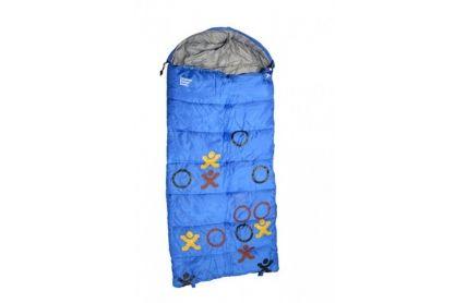 Explore Planet Earth - Buckley Hooded +5 deg Kids Sleeping Bag (Blue)
