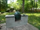 Brand New Egg Table Using Cinder Blocks - Big Green Egg - EGGhead Forum - The Ultimate Cooking Experience...