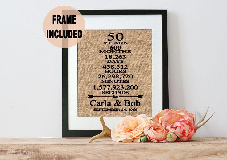 Wedding Anniversary Gift 57 Years : Wedding Anniversary Gift/ 50th Anniversary Gift/ 50 Years of Marriage ...