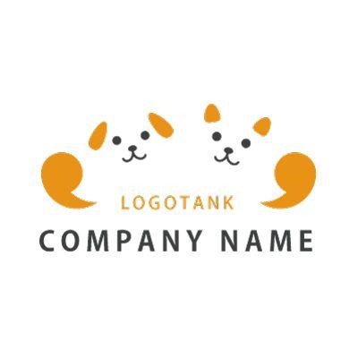 犬猫がガッツポーズをするロゴマーク 犬,猫,ロゴ,デザイン,作成,ガッツポーズ,健康,動物,病院,ペットサロン