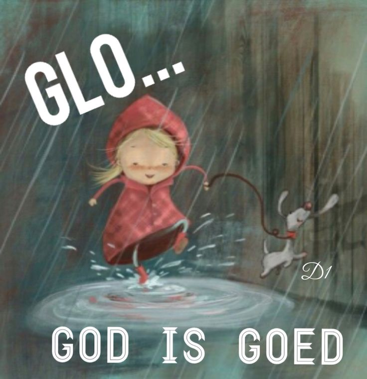Glo... God is goed!!
