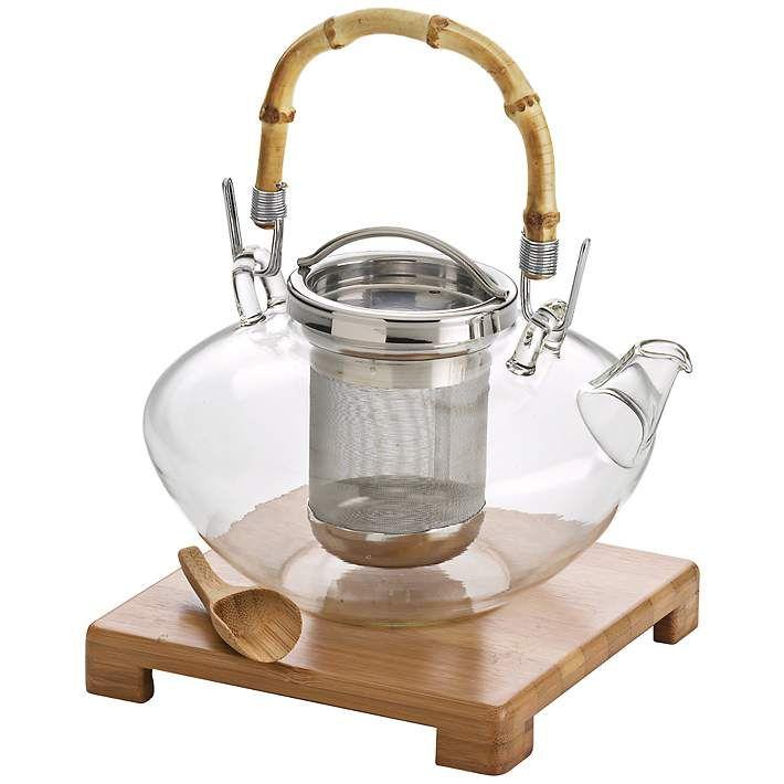 BonJour Zen 42-Ounce Glass Teapot - #3R537 | Lamps Plus