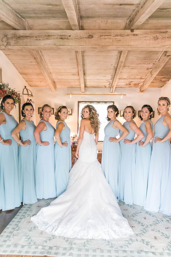 Light blue bridesmaid dressed, bridesmaid, getting ready photos, wedding day, she said yes, Heather Weems Photography: